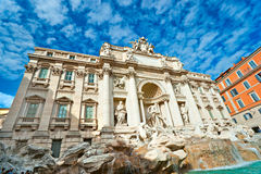 The Famous Trevi Fountain , rome, Italy. Royalty Free Stock Images