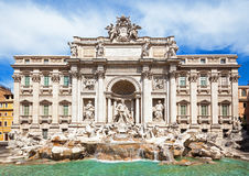 Famous Trevi Fountain Royalty Free Stock Images