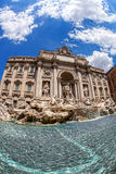 The Famous Trevi Fountain in  Rome, Italy Stock Photography