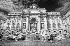 The Famous Trevi Fountain , rome, Italy. Stock Images