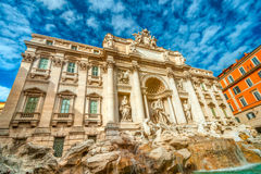 The Famous Trevi Fountain , rome, Italy. Royalty Free Stock Photo