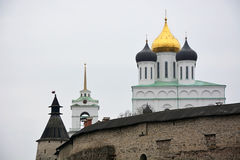 Famous Trinity cathedral in Pskov city Stock Photo