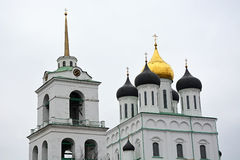 Famous Trinity cathedral in Pskov city Royalty Free Stock Images