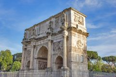 Triumphal Arch of Constantine in Rome, Italy. Famous triumphal Arch of Constantine in Rome, Italy Royalty Free Stock Photography
