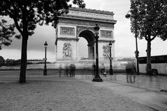 Famous Triumphal Arch, symbol of the glory and historical heritage. Iconic landmark of Paris, France. Charles de Gaulle. Square. City life, tourism and travel Stock Image