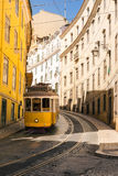 Famous Trolly Carriage on Street in Lisbon Portugal Historic Tra Stock Photos