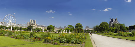 Famous Tuileries garden (Jardin des Tuileries). Beautiful and po Stock Photo
