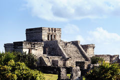 Famous Tulum ruins Royalty Free Stock Photos