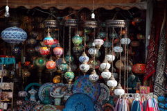 Famous turkish lamps Royalty Free Stock Photos