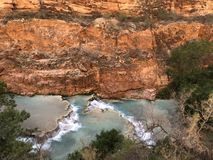 Famous Turquoise Beaver Falls waterfall in Grand Canyon stock photos