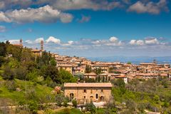 Tuscan wine town of Montalcino view, Italy Royalty Free Stock Photo