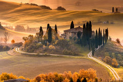 Famous Tuscany Belvedere farm house in Italy Stock Photography