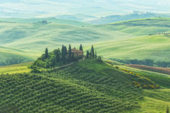 Famous Tuscany Belvedere farm house in Italy Stock Images