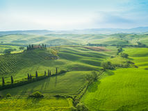 Famous Tuscany Belvedere farm house in Italy Royalty Free Stock Photos