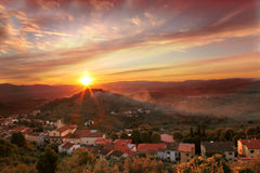 Famous Tuscany landscapes  in Italy Royalty Free Stock Photo