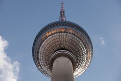 Famous TV Tower located on the Alexanderplatz in Berlin Royalty Free Stock Photography