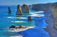 Famous Twelve Apostles Stock Photography