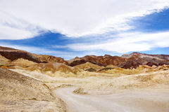 Famous Twenty Mule Teams road in Death Valley National Park Stock Image