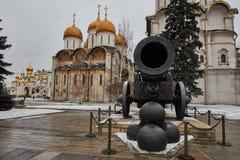 Famous Tzar pushka big canon near Kremlin, Moscow Royalty Free Stock Photo