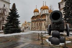 Famous Tzar pushka big canon near Kremlin, Moscow Stock Images