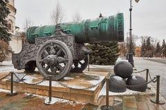 Famous Tzar pushka big canon near Kremlin, Moscow Stock Photos
