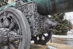 Famous Tzar pushka big canon near Kremlin, Moscow Royalty Free Stock Photos