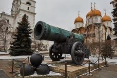 Famous Tzar pushka big canon near Kremlin, Moscow Royalty Free Stock Photography
