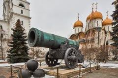 Famous Tzar pushka big canon near Kremlin, Moscow Stock Photography
