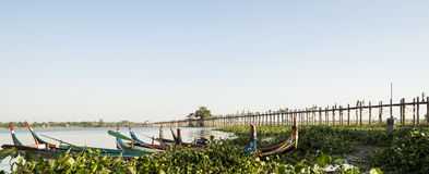 Famous U Bein Bridge. Royalty Free Stock Photos