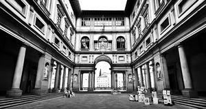 Famous Uffizi Gallery in Florence, Italy Royalty Free Stock Images