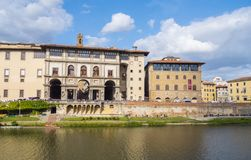 The famous Uffizi museum and galleries in Florence - FLORENCE / ITALY - SEPTEMBER 12, 2017 Royalty Free Stock Photos
