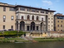 The famous Uffizi museum and galleries in Florence Royalty Free Stock Photography