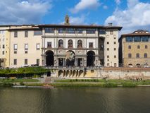 The famous Uffizi museum and galleries in Florence Royalty Free Stock Images