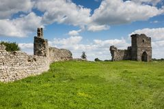 Famous Ukrainian landmark: scenic summer view of the ruins of an Royalty Free Stock Image