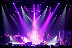 The famous Ukrainian singer Jamala gave a concert presenting her new album Podykh (Breath) Royalty Free Stock Photos