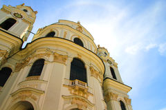 The famous University Church in Salzburg Royalty Free Stock Images
