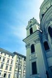 The famous University Church in Salzburg Stock Photos