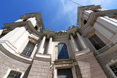 The famous University Church in Salzburg Stock Photography