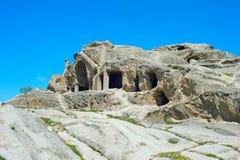 Famous Uplistsikhe caves. Georgia Royalty Free Stock Photography