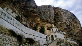 The famous Uspensky monastery in Bakhchisarai Stock Photography
