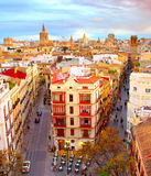 Famous Valencia Old Town, Spain Royalty Free Stock Image