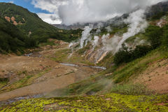 Famous Valley of Geysers. Stock Photography