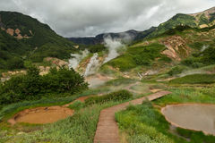 Famous Valley of Geysers. Royalty Free Stock Image