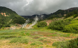 Famous Valley of Geysers. Royalty Free Stock Images