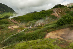 Famous Valley of Geysers. Royalty Free Stock Photo