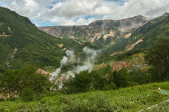 Famous Valley of Geysers. Stock Images