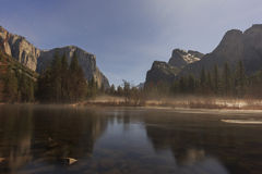 The famous Valley View of Yosemite Stock Photo