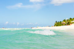 The famous Varadero beach in Cuba Stock Images
