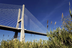 The famous Vasco da Gama bridge Stock Image