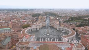 The famous Vatican in Rome - aerial view from the top of St Peters Basilica. Videoclip stock video